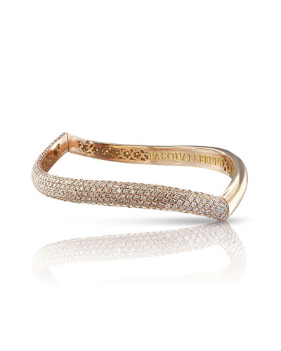 18k Rose Gold Touch Bracelet with Champagne and White Diamonds