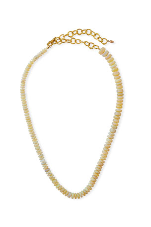 K Brunini Twig 18k O-Chain Opal Necklace