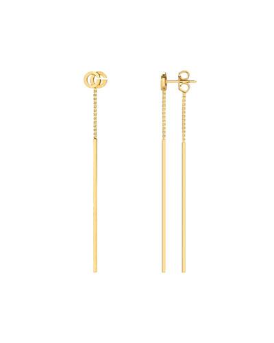 GG Running 18k Gold Extra-Small Dangle Earrings