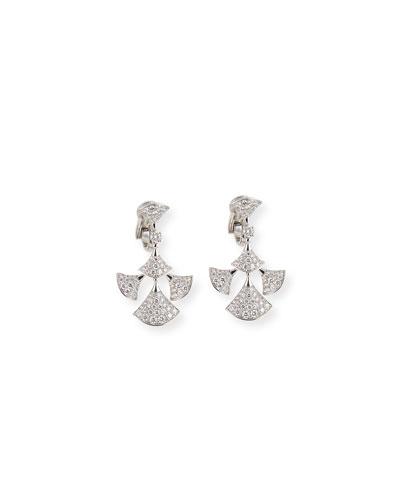 Diva 18k White Gold Diamond Earrings