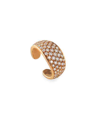 18k Rose Gold Diamond Galaxy Ear Cuff