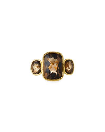 19k Custom Smoky Quartz Ring