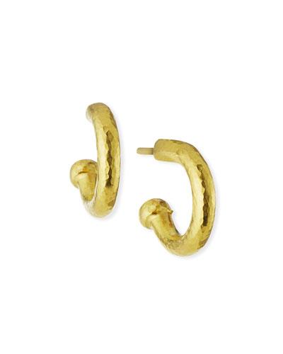 19k Baby Hoop Earrings