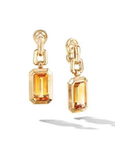 Novella 18k Gold 19mm Citrine Drop Earrings