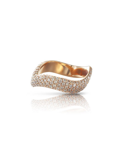 Sensual Touch 18k Rose Gold Two-Tone Diamond Ring