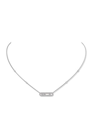 Messika Baby Move Diamond Pave Necklace, White Gold