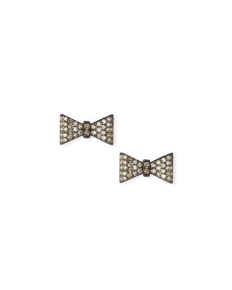 Siena Lasker Diamond Bow Stud Earrings
