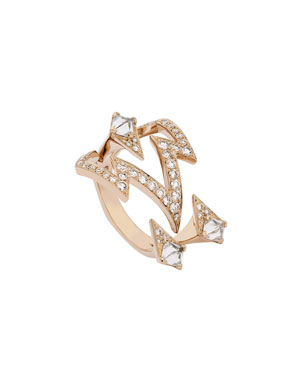 acff0154627a Stephen Webster Lady Stardust Bolt Diamond Ring in 18k Rose Gold