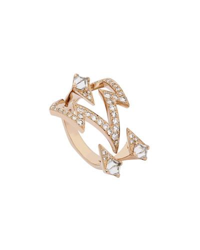 Lady Stardust Bolt Diamond Ring in 18k Rose Gold