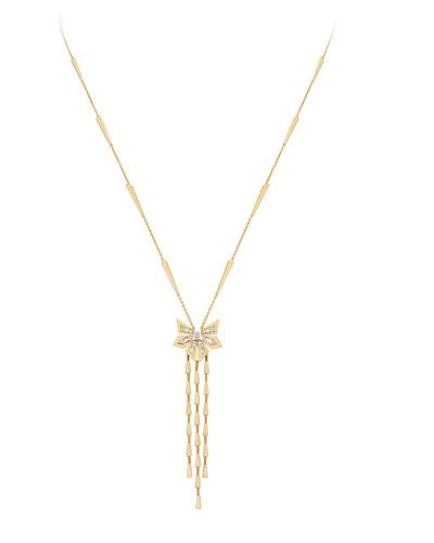 18K Yellow Gold Dynamite Cascade Necklace w/ Diamonds