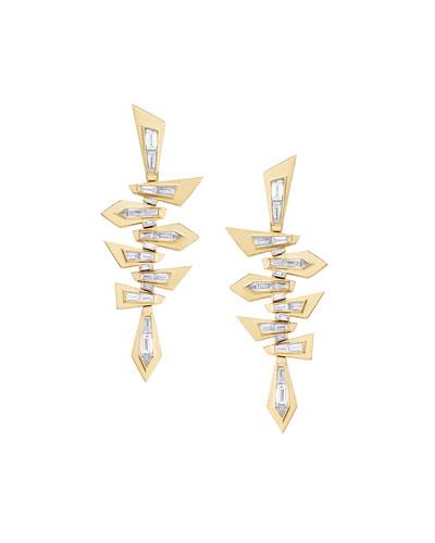 18K Dynamite Shattered Diamond Earrings