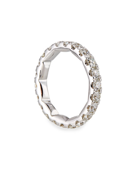 Roberto Coin 18k White Gold Diamond Eternity Ring, Size 6.5