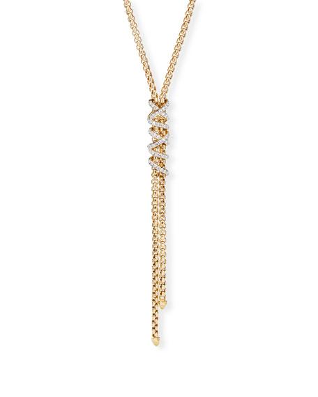 David Yurman Helena 18k Diamond Wrapped Y-Drop Necklace