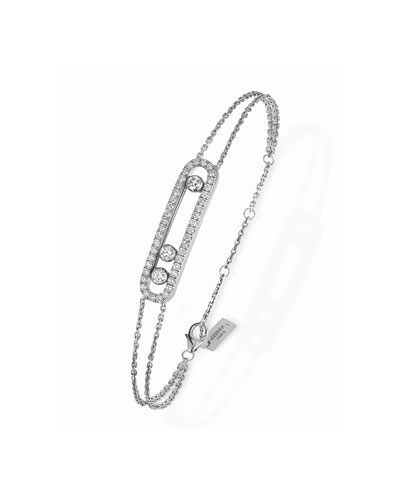 Move Diamond Pave Bracelet  White Gold