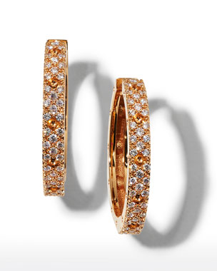 29ef66312 Roberto Coin Pois Mois 18k Rose Gold Diamond Hoop Earrings, 20mm