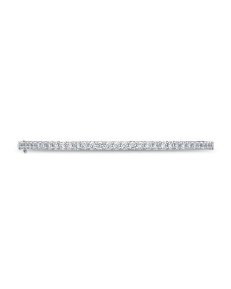 Memoire 18k White Gold Diamond-Pave Hinged Bangle