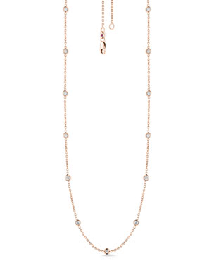 5d259dfea5c0 Roberto Coin 18k Rose Gold Diamond By-the-Yard Necklace
