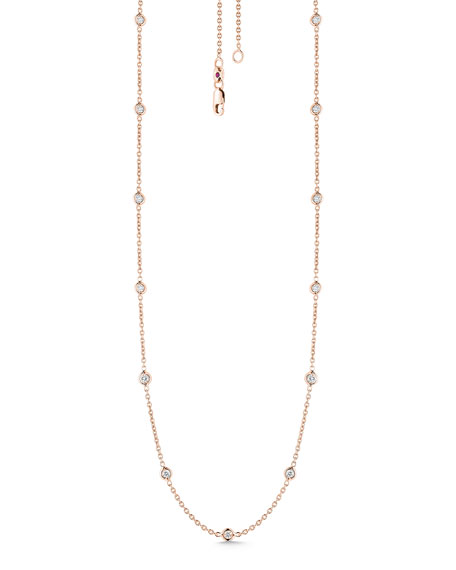 Roberto Coin 18k Rose Gold Diamond By-the-Yard Necklace