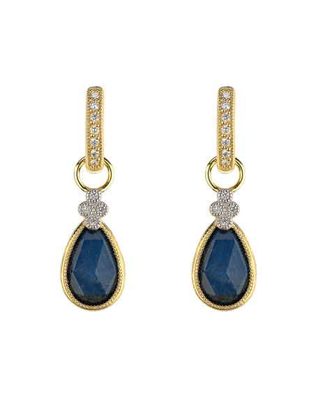 Jude Frances Provence Pear-Stone Earring Charms