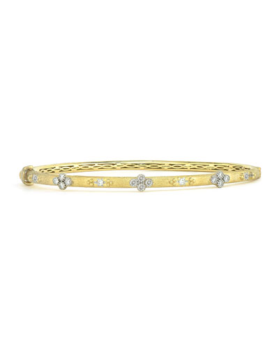 Provence Alternating Diamond Beaded Bangle