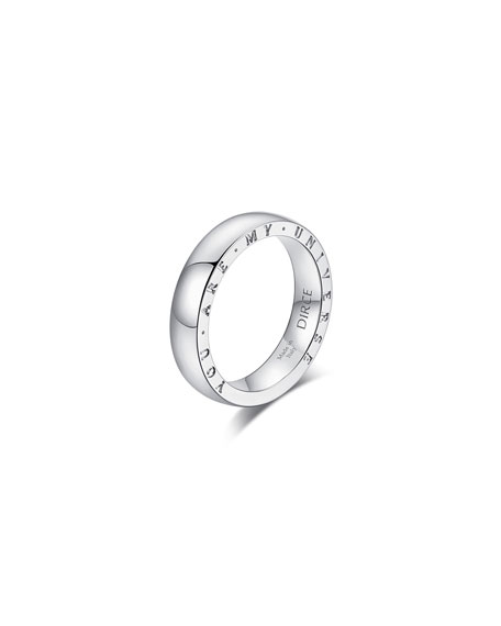 "Alberto Milani DIRCE ""YOU ARE MY UNIVERSE"" 18K WHITE GOLD 4.3MM BAND RING"