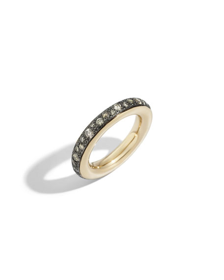Pomellato Iconica Small 18k Rose Gold Brown Diamond Ring, Size 51