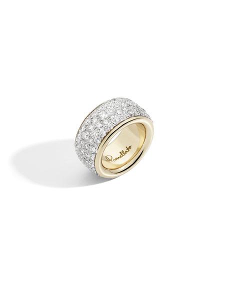 Pomellato Iconica Precious Maxi 18k Rose Gold White Diamond Ring, Size 51