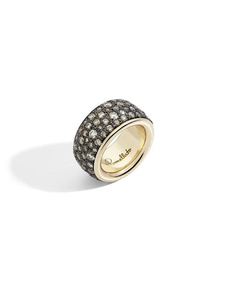 Pomellato Iconica Precious Maxi 18k Rose Gold Brown Diamond Ring, Size 52