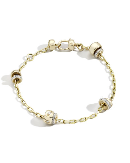 Pomellato Iconica 18K Rose Gold Diamond Chain Bracelet