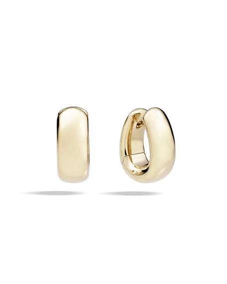 Pomellato Iconica 18k Rose Gold Huggie Hoop Earrings