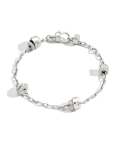 Pomellato Iconica 18K White Gold Diamond Chain Bracelet
