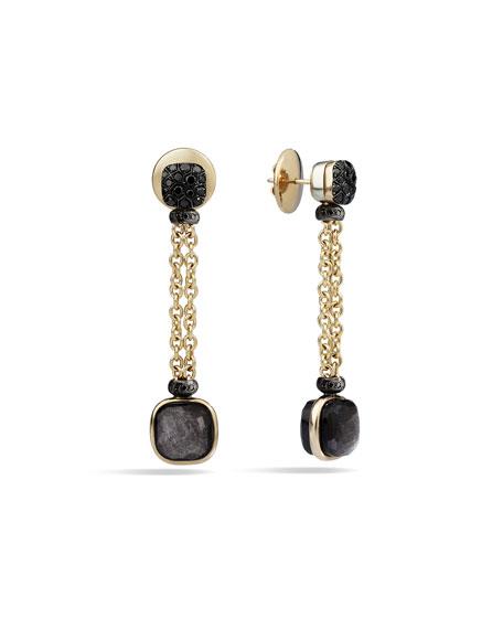 Pomellato Nudo 18K Obsidian & Black Diamond Drop Earrings