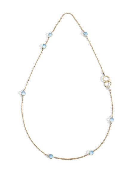 Pomellato Nudo 18K Sky Blue Topaz Sautoir Necklace