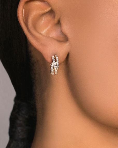 LANA 14k Diamond 3-Crossover Hoop Earrings, 15mm