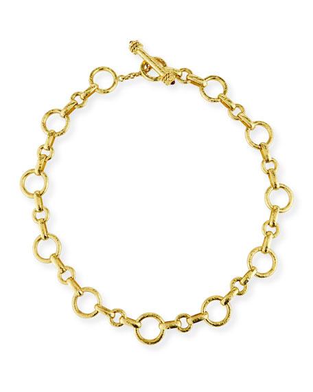 Elizabeth Locke 19k Large Siena Link Necklace