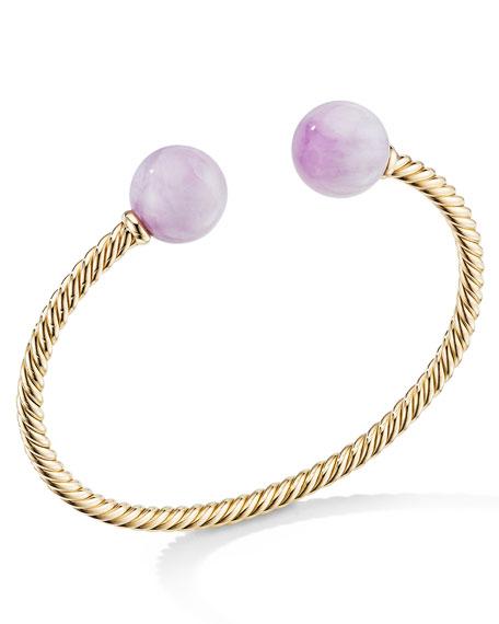 David Yurman Solari XL 18k Cable Bracelet w/ Kunzite, Size M