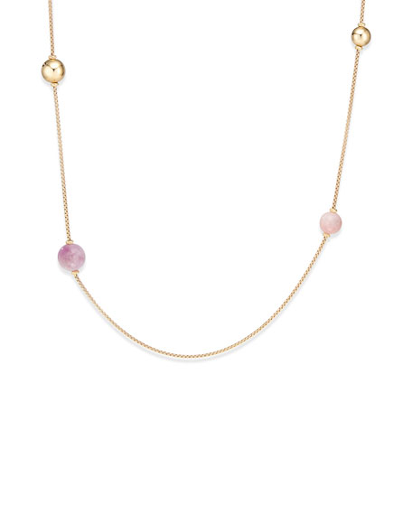 David Yurman Solari XL 18k Chain Necklace w/ Kunzite