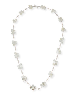 2829a01ecb8c95 Margo Morrison White Pearl & Mother-of-Pearl Necklace, ...