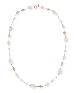 bff0b63143aa95 Margo Morrison Long Pearl & Stone Necklace