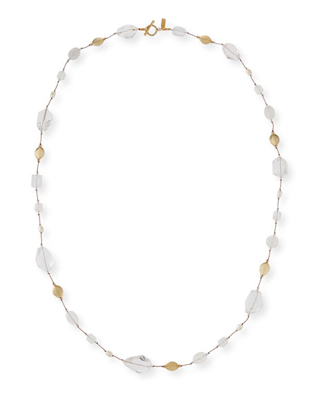 Margo Morrison Long Pearl & Stone Necklace