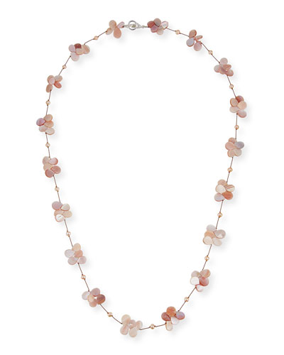 Pink Pearl & Mother-of-Pearl Necklace  35L