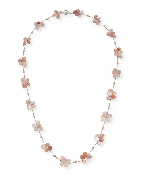 "Margo Morrison Pink Pearl & Mother-of-Pearl Necklace, 35""L"