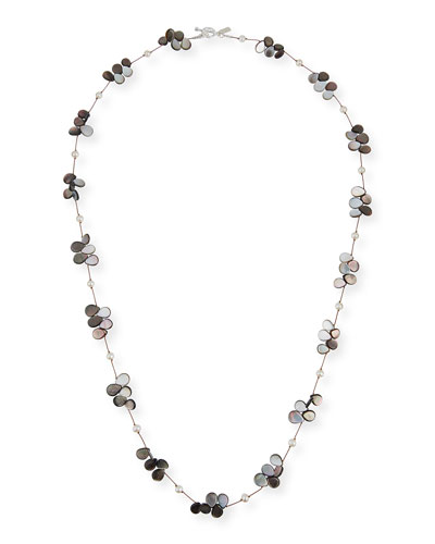 Pearl  Abalone & Mother-of-Pearl Necklace  35L