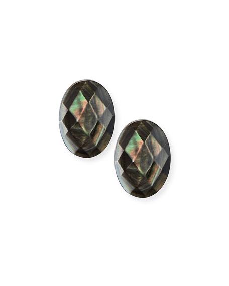 Margo Morrison Abalone Oval Post Earrings