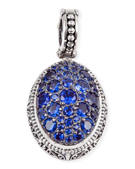 Konstantino Circe Blue Spinel Oval Pendant