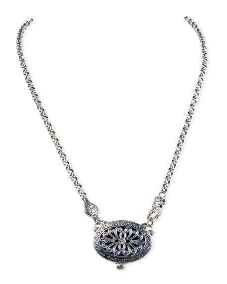 Konstantino Circe Blue Spinel Pendant Necklace