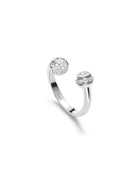 PIAGET Possession 18k White Gold Open Diamond Ring, Size 52