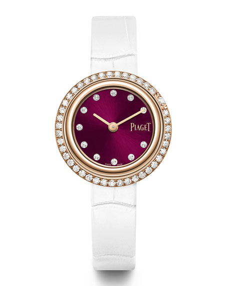 Image 2 of 2: PIAGET 29mm Possession 18k Rose Gold Watch w/ Diamonds, Burgundy