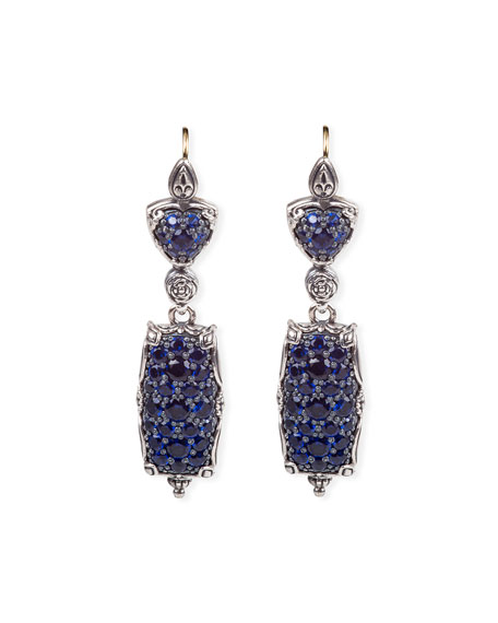 Konstantino Circe Blue Spinel Dangle Earrings