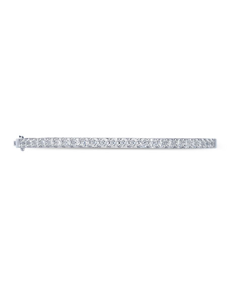 Memoire 18k White Gold Diamond Fashion Bangle, 1.97tcw